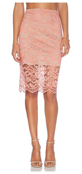 "Alexis X revolve cesar pencil skirt in taupe - Nylon blend. Skirt measures approx 24"""" in length...."