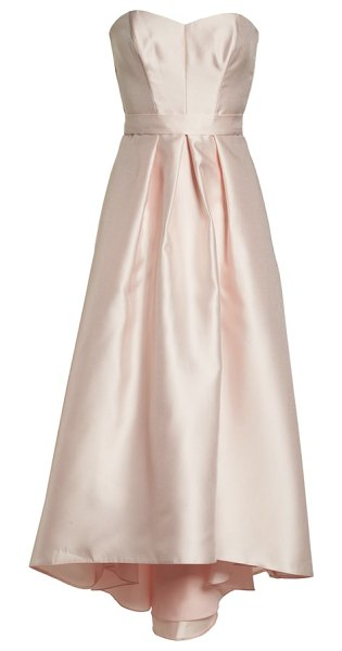 Alfred Sung strapless high low satin twill ballgown in pink - Subtly  lustrous satin twill 2e4e98b45
