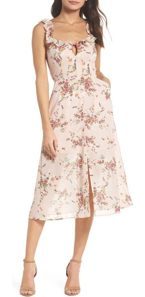 ALI & JAY atwater village midi dress - An eye-catching floral pattern and feminine ruffles at the...