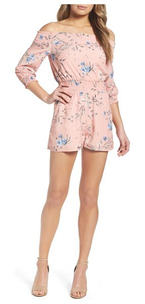 Ali & Jay floral print romper in desert sunset floral - Look charming and feel comfy in an elastic-smocked...