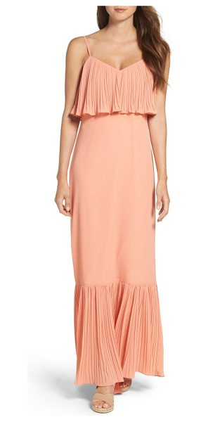 Ali & Jay moroccan villa maxi dress in desert sunset - Fluttering pleats along the bodice overlay and maxi hem...