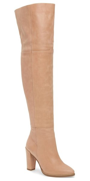 Alias Mae alla over the knee boot in blush leather - Take your around-town style to the next level with this...