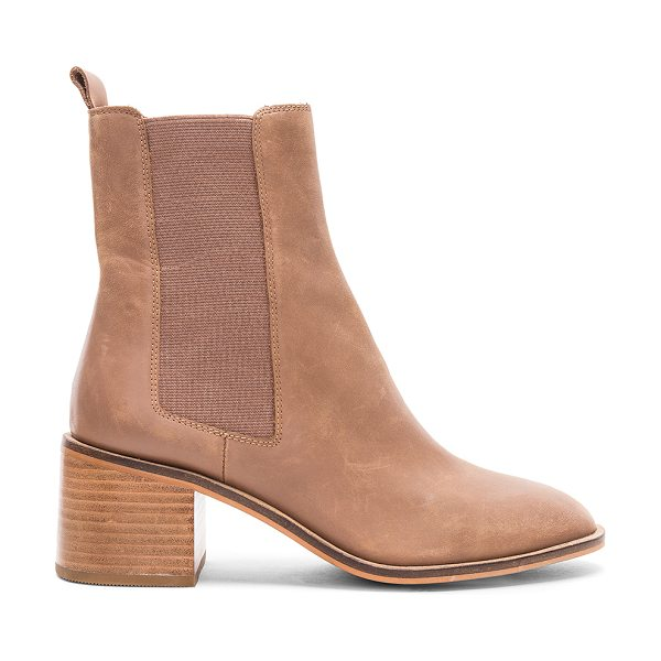 "Alias Mae Gail Bootie in tan - ""Leather upper with man made sole. Elasticized pull on..."
