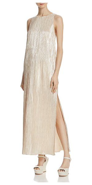 ALICE + OLIVIA Alice + Olivia Lucia Metallic Plisse Maxi Dress - Alice + Olivia Lucia Metallic Plisse Maxi Dress-Women