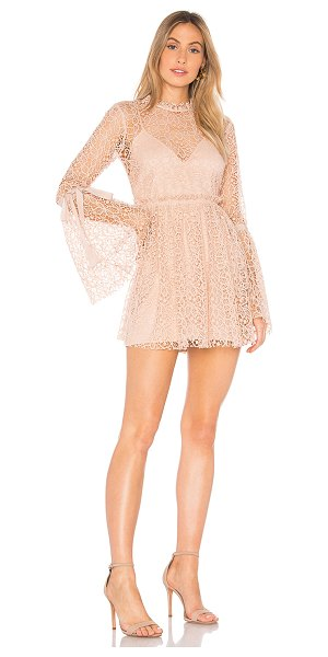 Alice McCall Back to You Dress in blush - Poly blend. Dry clean only. Detachable adjustable slip....