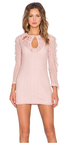 Alice McCall Black magic woman dress in blush - Cotton blend. Fully lined. Neckline cut-outs. Ruffle...