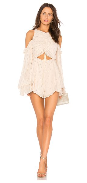 """Alice McCall Did It Again Playsuit in pink - """"Viscose blend. Dry clean only. Shirred front with tie..."""