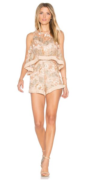 Alice McCall Diggin On You Romper in ballet - Nylon blend. Dry clean only. Adjustable shoulder straps....