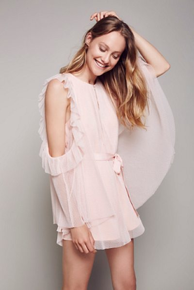 Alice McCall Good times playsuit in rose - Super fun and femme playsuit featuring cute ruffled...