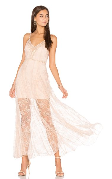 Alice McCall I See You Dress in blush - Main: 88% poly 12% elastaneContrast: 100% polyTrim: 65%...
