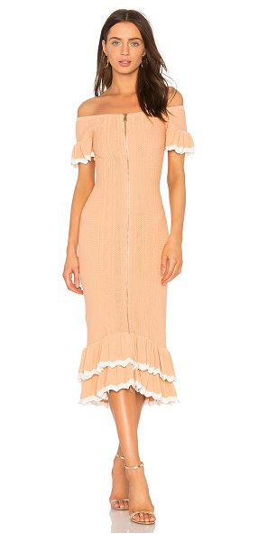 "Alice McCall Just Because Dress in peach - ""Viscose blend. Dry clean only. Unlined. Exposed front..."