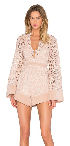 Alice McCall My One And Only Playsuit in blush - Poly blend. Partially lined. Scalloped trim. Faux suede...