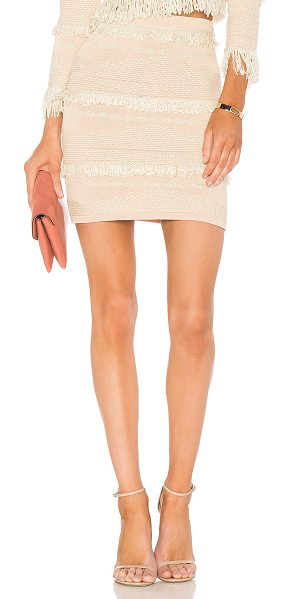 "Alice McCall Oh My Skirt in pink - ""51% viscose 27% nylon 14% acrylic 8% lurex. Hand wash..."