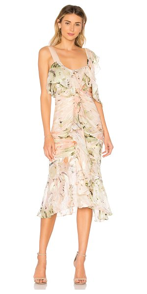 Alice McCall Oh Romeo Dress in blush - Silk blend. Dry clean only. Fully lined. Ruffle details....