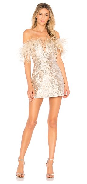 "Alice McCall Pop Goes the Party Dress in metallic silver - ""Self: 63% poly 27% metallized fabric 10% nylonLining:..."