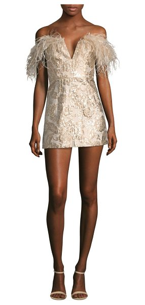 ALICE MCCALL pop goes the party feather brocade mini dress - Mini brocade dress finished with a plume of feathers....