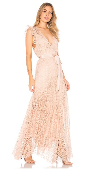 Alice McCall Reflection Gown in blush - Poly blend. Dry clean only. Detachable adjustable slip....