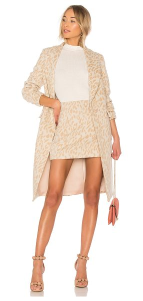 Alice McCall Wild Thing Coat in cream - Wool blend. Dry clean only. Front snap button closure....