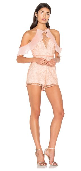 Alice McCall Your Disco Needs You Playsuit in rose - Poly blend. Dry clean only. Metallic embroidered mesh...