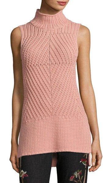 ALICE + OLIVIA abbot sleeveless sweater - Intricately patterned sweater in a solid finish....