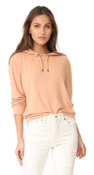 Alice + Olivia air rowan cropped hoodie in rose tan - Tiny slubs and pills create soft texture on this relaxed...