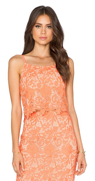Alice + Olivia Alanis cami in coral - Shell: 100% polyLining 1: 97% poly 3% spandexLining 2:...