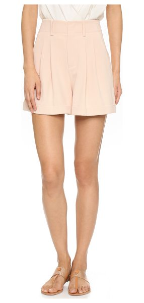 ALICE + OLIVIA Amani double pleat shorts - A high rise and cuffed hems lend a classic feel to these...