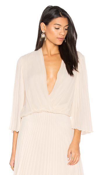 Alice + Olivia Axel Top in blush - Self: 100% silkCombo: 100% polyLining: 94% poly 6%...