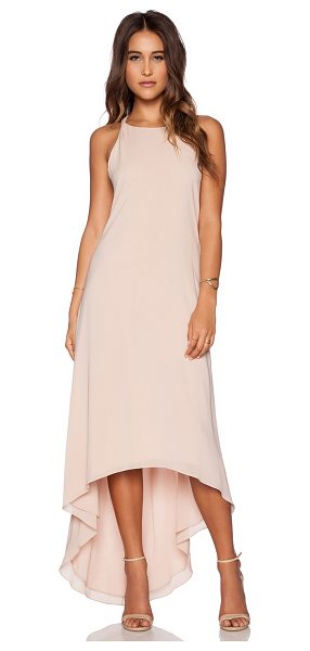 Alice + Olivia Back twist keyhole maxi dress in blush - 96% silk 4% spandex. Dry clean only. Fully lined. Back...