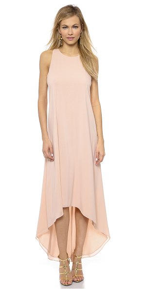 Alice + Olivia Back twist khyl dress in pink - A high low hem lends a fluid drape to this alice +...