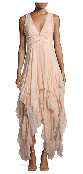 Alice + Olivia Brynn Sleeveless Silk Tiered Midi Dress in pink - ONLYATNM Only Here. Only Ours. Exclusively for You....