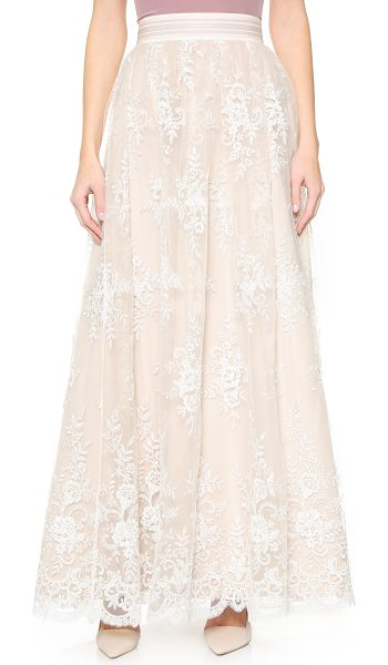 ALICE + OLIVIA Carter flare ball gown skirt - Clear sequins and imitation pearls lend subtle shimmer...