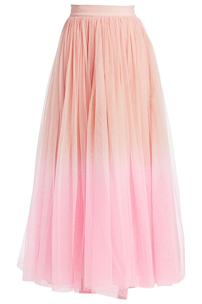 Alice + Olivia catrina tulle maxi skirt in blush electric pink