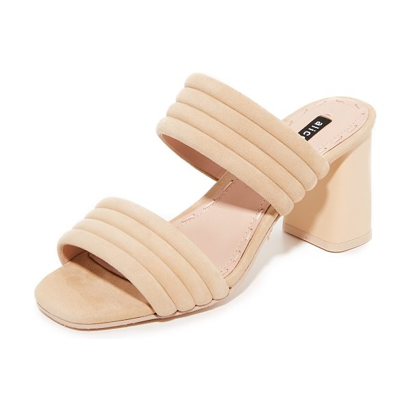 ALICE + OLIVIA colby mules in nude - Effortless alice + olivia mules styled with quilted,...