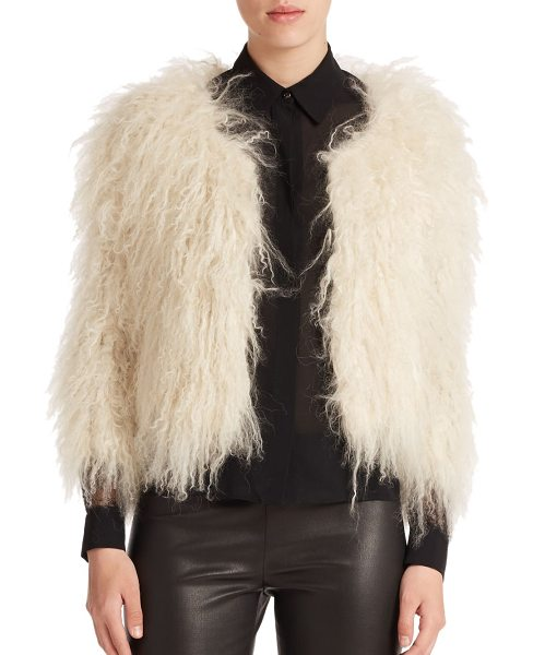 ALICE + OLIVIA Cropped fur jacket - Dripping lamb fur is both edgy and elegant in this...