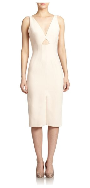 Alice + Olivia Dash cutout-front sheer-paneled dress in paleblush - This sleek sheath dress cut with smooth lines is a...