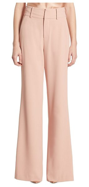 Alice + Olivia dawn high-waist wide leg pants in rose tan - From the Saks IT LIST. SUIT YOURSELF. The new suit:...