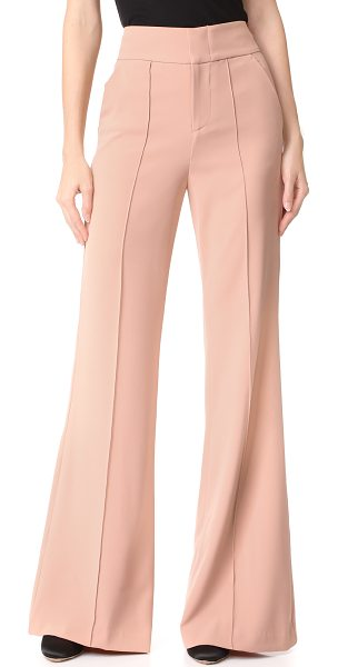 ALICE + OLIVIA dawn high waisted pants - Seamed creases accentuate the fluid lines of these...