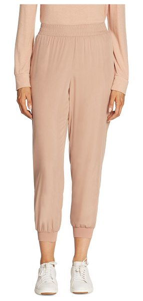 Alice + Olivia dede smocked jogger pants in rose tan