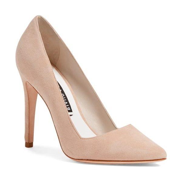 ALICE + OLIVIA dina pointy toe pump - A sleek, notched topline underscores the modern...