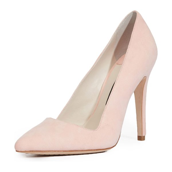 Alice + Olivia Dina Suede 95mm Pumps in perfect pink