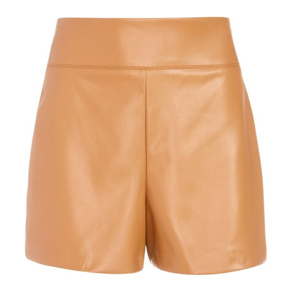Alice + Olivia donald high-rise shorts in camel