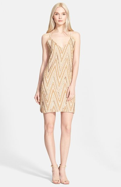 ALICE + OLIVIA embellished slipdress - A neutral palette of beads, sequins and embroidery...