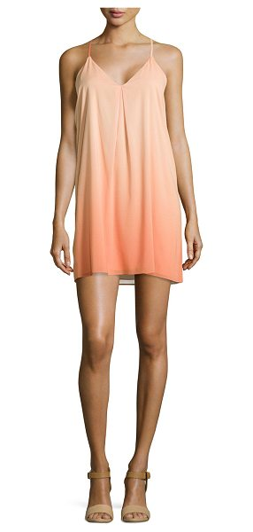 Alice + Olivia Fierra ombre racerback dress in melon/coral - Alice + Olivia Fierra dress in ombre chiffon. V...