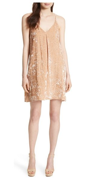 Alice + Olivia fierra velvet slipdress in natural - Buttery-soft crushed velvet suspended from slim...
