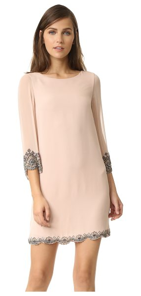 Alice + Olivia frieda dress in dusty pink - Exclusive to Shopbop. Beaded edges bring luxe shimmer to...