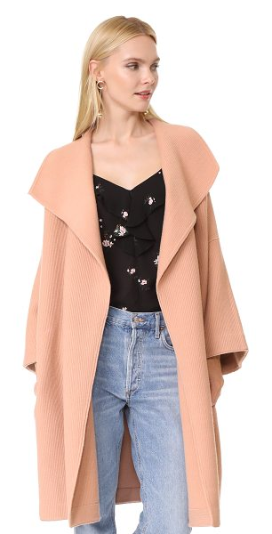 Alice + Olivia hester boxy wide sleeve cardigan coat in rose tan - An ultra-cozy alice + olivia cardigan coat in a boxy...