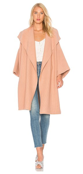 Alice + Olivia Hester Knit Coat in rose - 62% nylon 36% viscose 2% elastane. Dry clean only. Open...