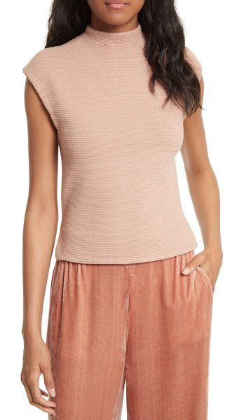 Alice + Olivia ingrid tank in rose tan - The luxe shimmer of a ribbed-sweater knit refines a...