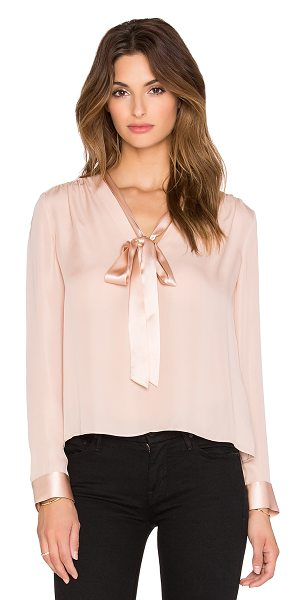 Alice + Olivia Irma tieneck top in blush